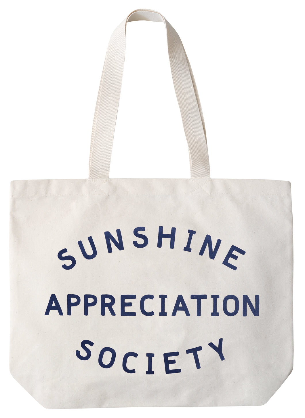 'Sunshine Appreciation Society' Big Canvas Tote Bag