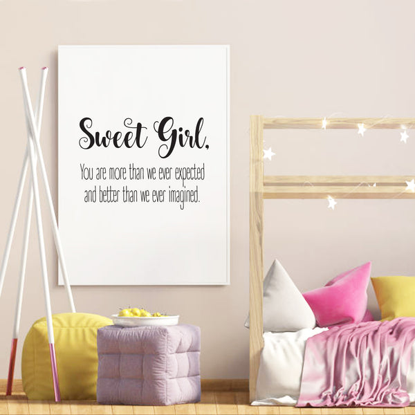 Sweet Girl | Print | Digital Download