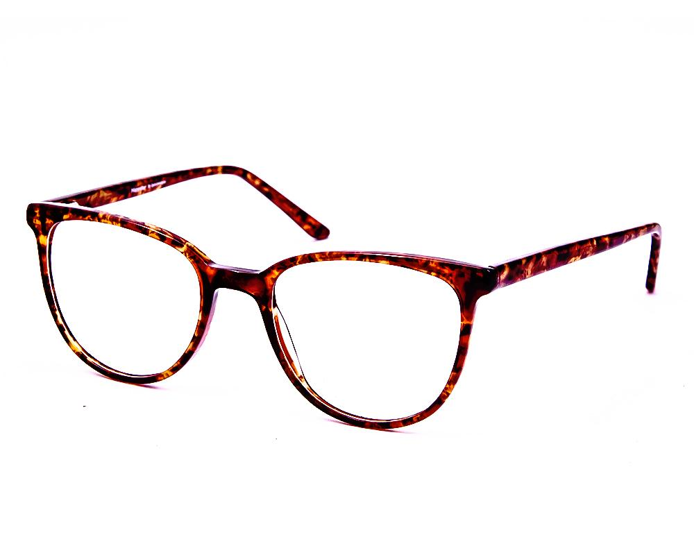 CATEYE BROWN TORTISE with TORTISE ACETATE FULL FRAME AMI5007 - Specsmakers