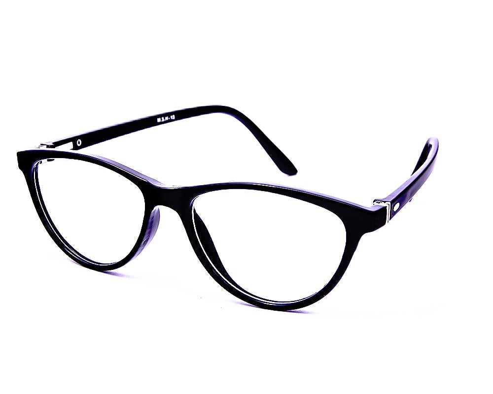 CATEYE BLACK WITH BLACK SHINE FULL FRAME AOMSH13N - Specsmakers