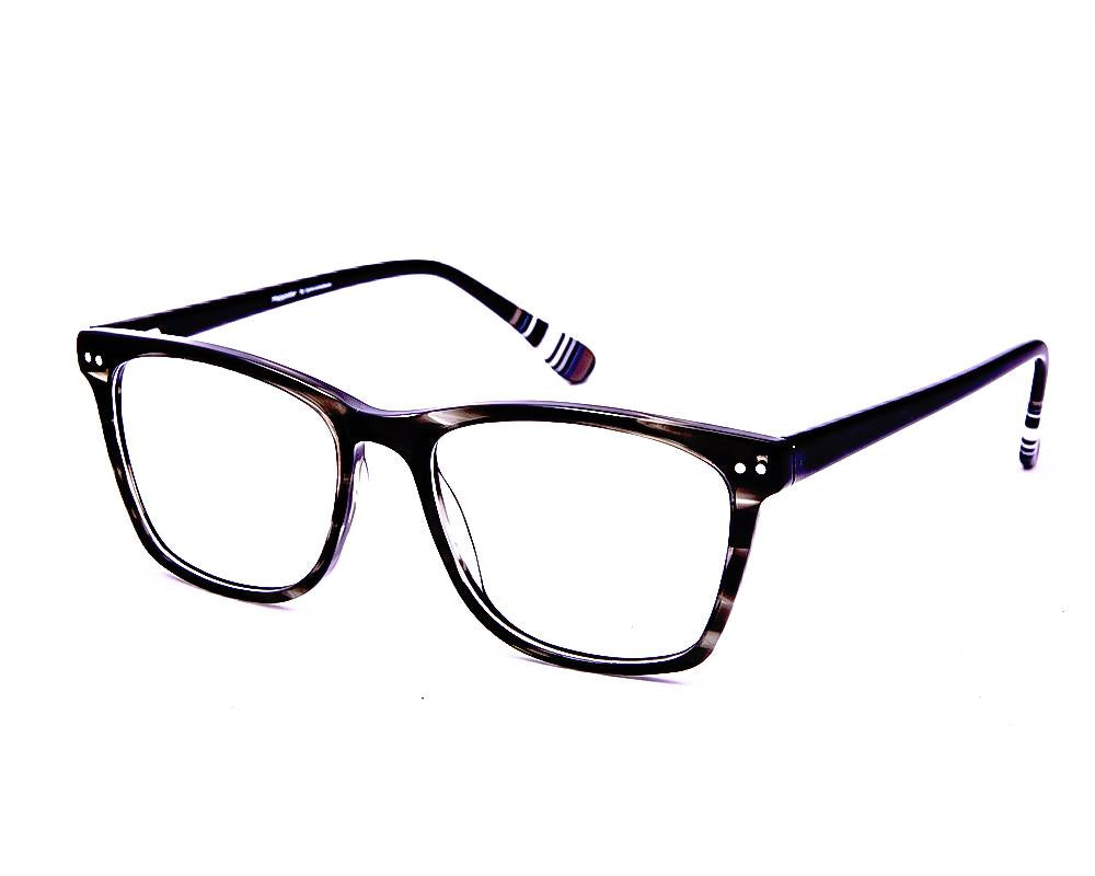 SQUARE GREY TORTISE with BLACK ACETATE FULL FRAME AMI5004 - Specsmakers