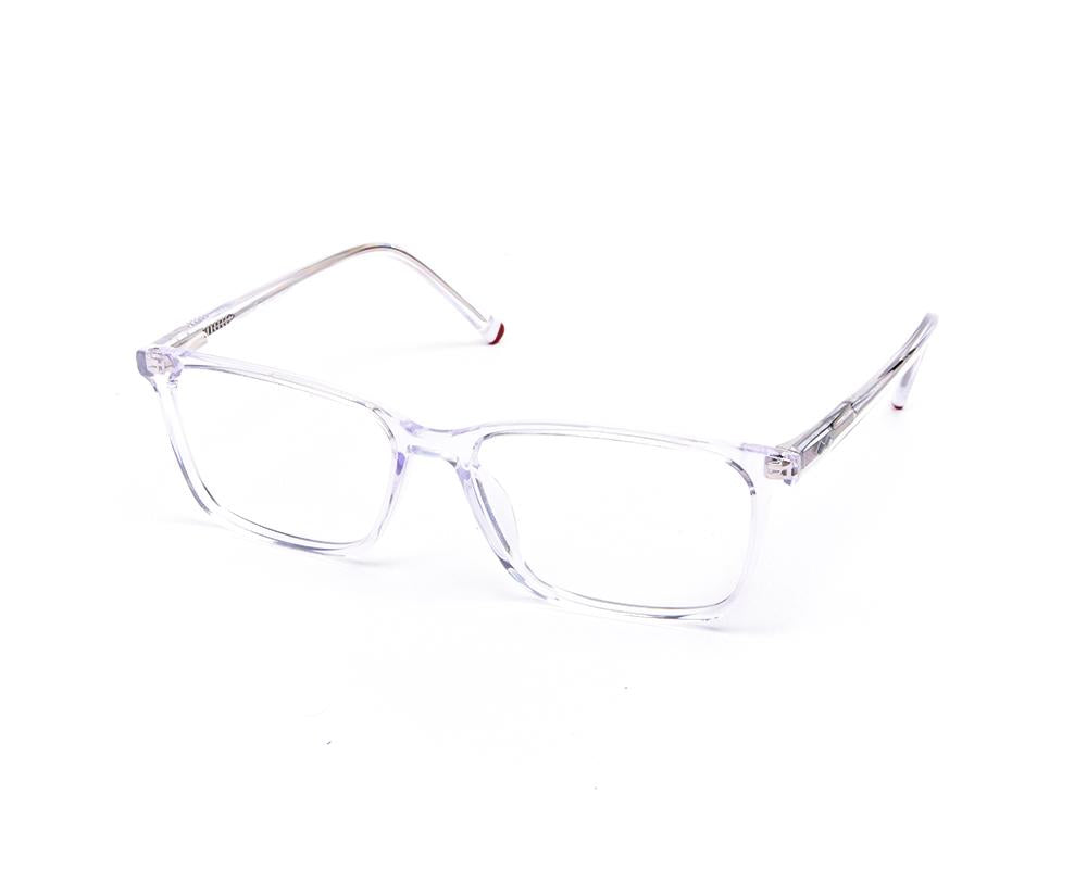 RECTANGLE CRYSTAL WHITE WITH WHITE HAPPSTER FRAME AMK55016