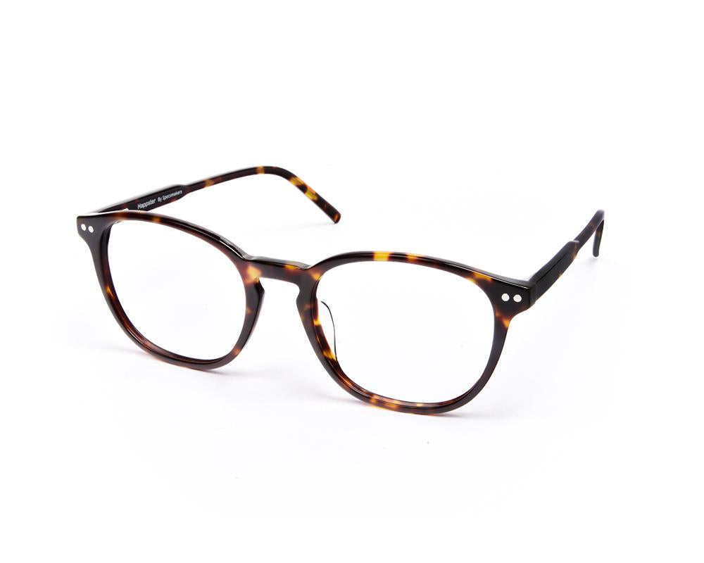 ROUND BROWN TORTISE WITH TORTISE HAPPSTER FRAME AMK35022