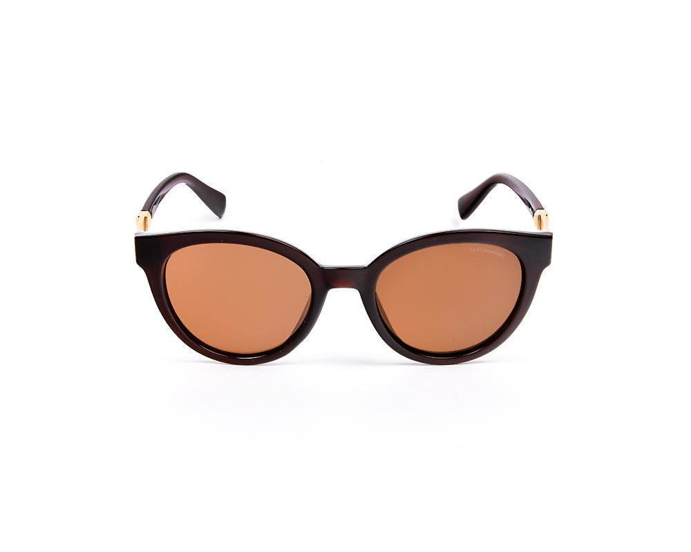 ROUND BROWN SHINE WITH BROWN SUNGLASS SOG917