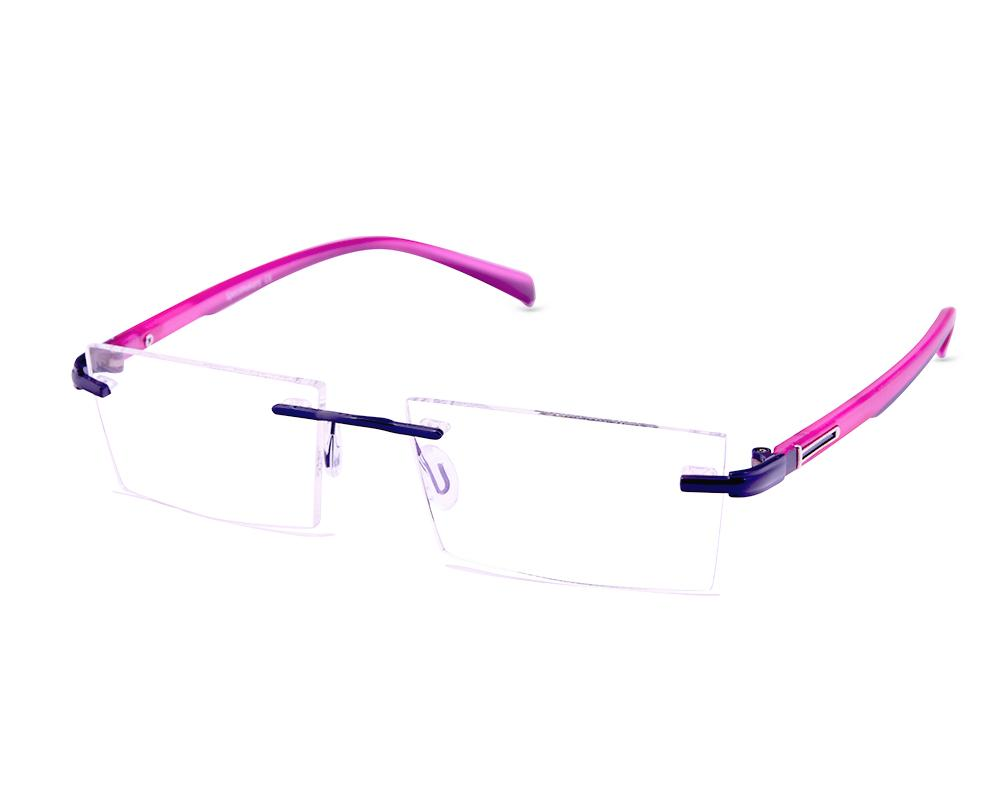 RECTANGLE PURPLE SHINE RIMLESS AMH8003A - Specsmakers