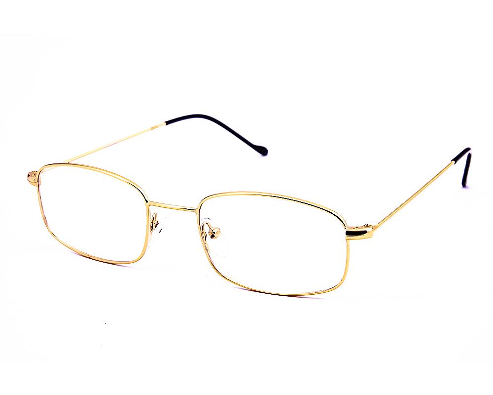 RECTANGLE GOLD WITH GOLD FULL FRAME AMF3053 - Specsmakers
