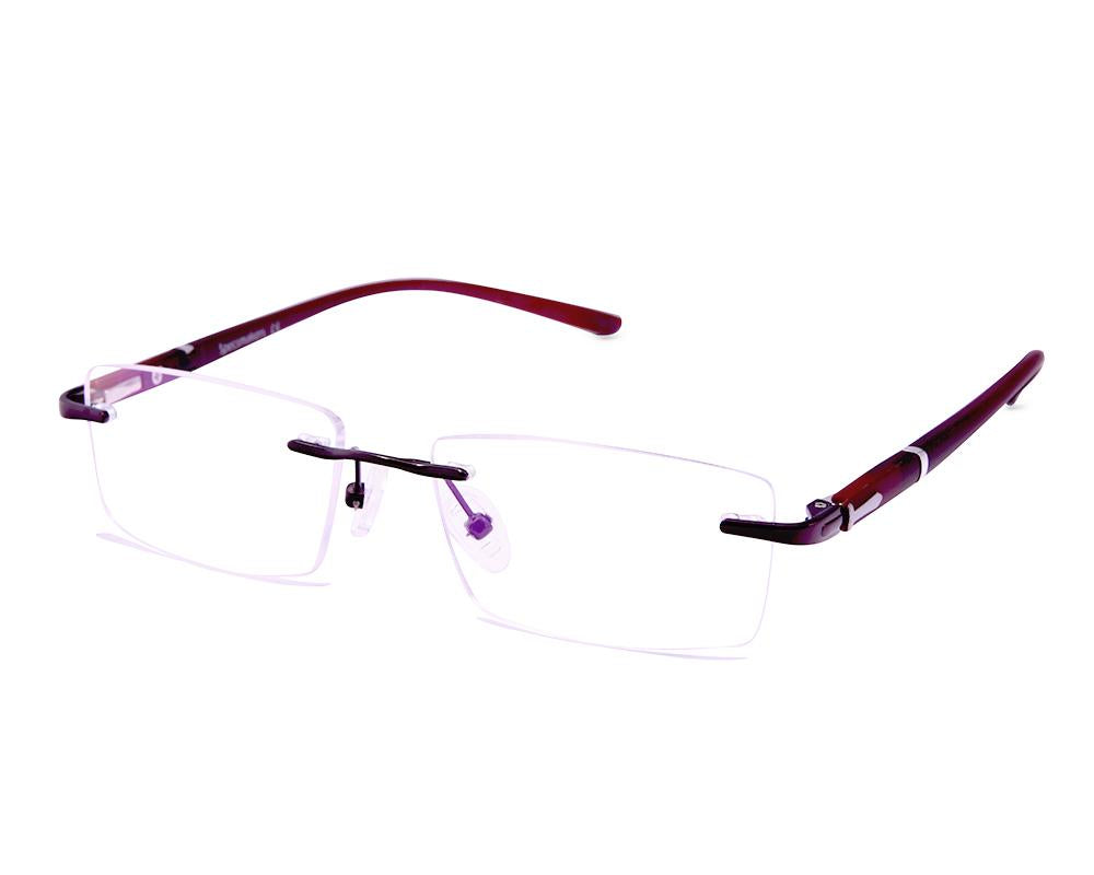 RECTANGLE BROWN WITH BROWN RIMLESS AMG1730 - Specsmakers