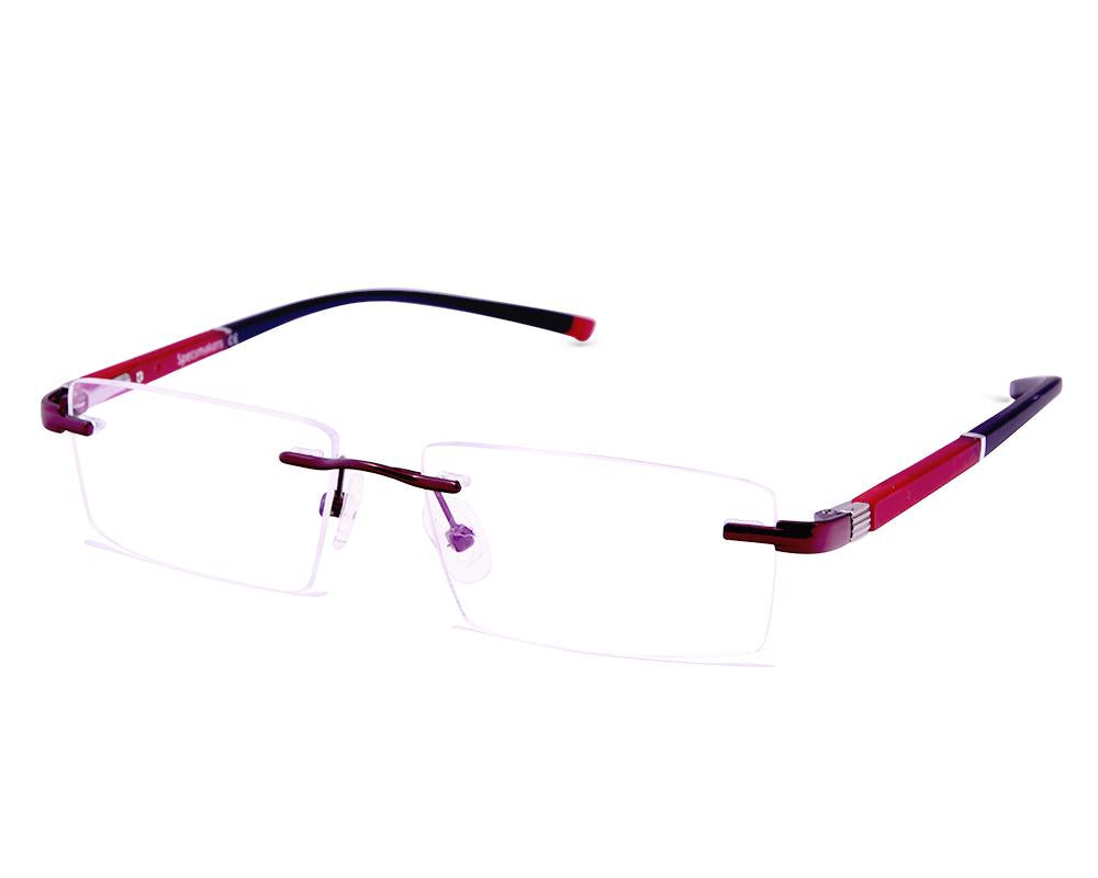 RECTANGLE RED RIMLESS AMG1724 - Specsmakers