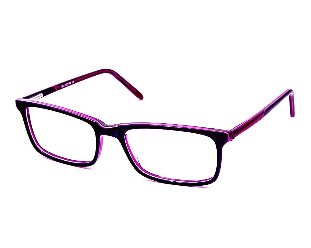 SQUARE PURPLE WITH PURPLE SHINE FULL FRAME BH316 - Specsmakers