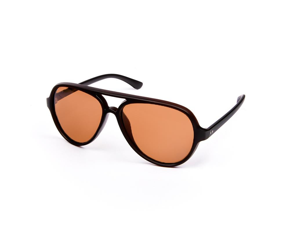 OVAL BROWN MATT WITH BLACK SUNGLASS SOG4215