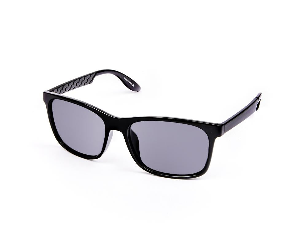 SQUARE BLACK SHINE WITH BLACK SUNGLASS SOG926