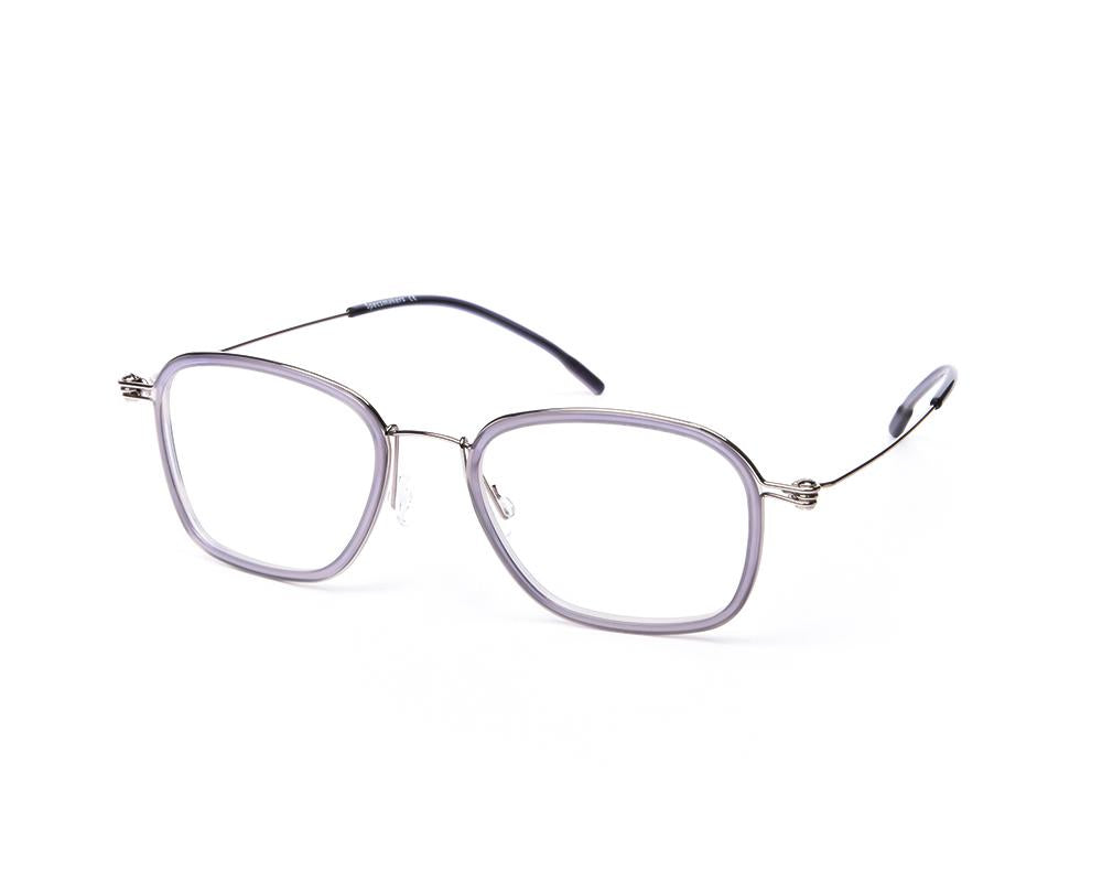 SQUARE GREY SHINE WITH SILVER SHELL FRAME SS10331
