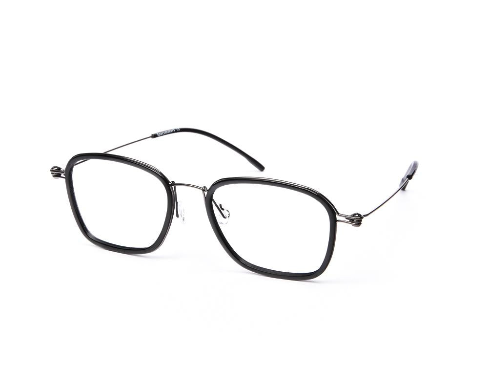 SQUARE BLACK SHINE WITH GUN METAL SHELL FRAME SS10331