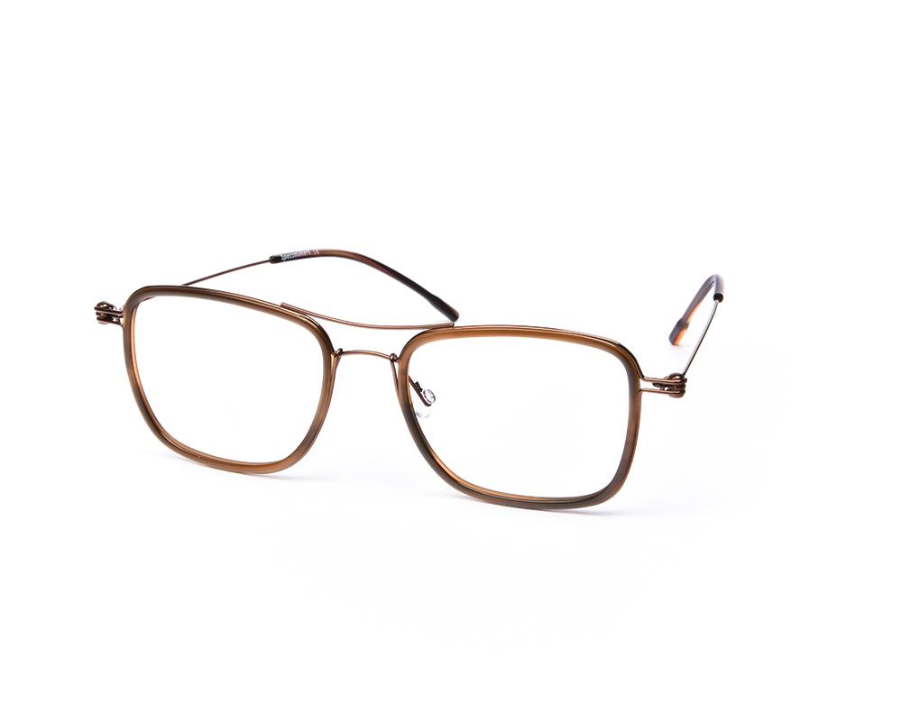 SQUARE BROWN SHINE WITH BROWN SHELL FRAME SS10333