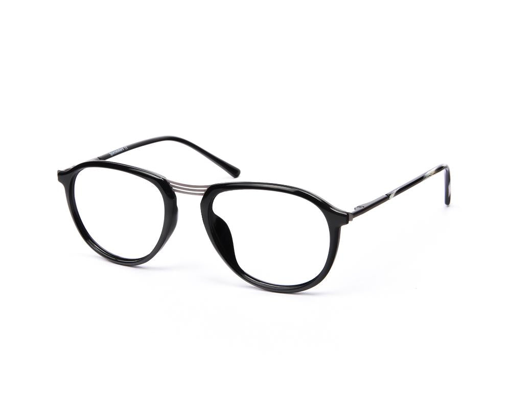 OVAL BLACK SHINE WITH GUN METAL SHELL FRAME SS10515