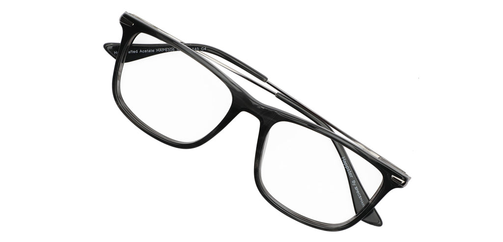 Rectangle BLACK MATT WITH RED CLIPON AMH8208 - Specsmakers