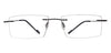 Specsmakers lightanium Unisex Eyeglasses Rimless Rectangle Large 52 Metal SM AMN007