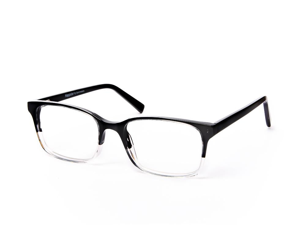 SQUARE BLACK DUO WITH BLACK HAPPSTER NO17353 - Specsmakers