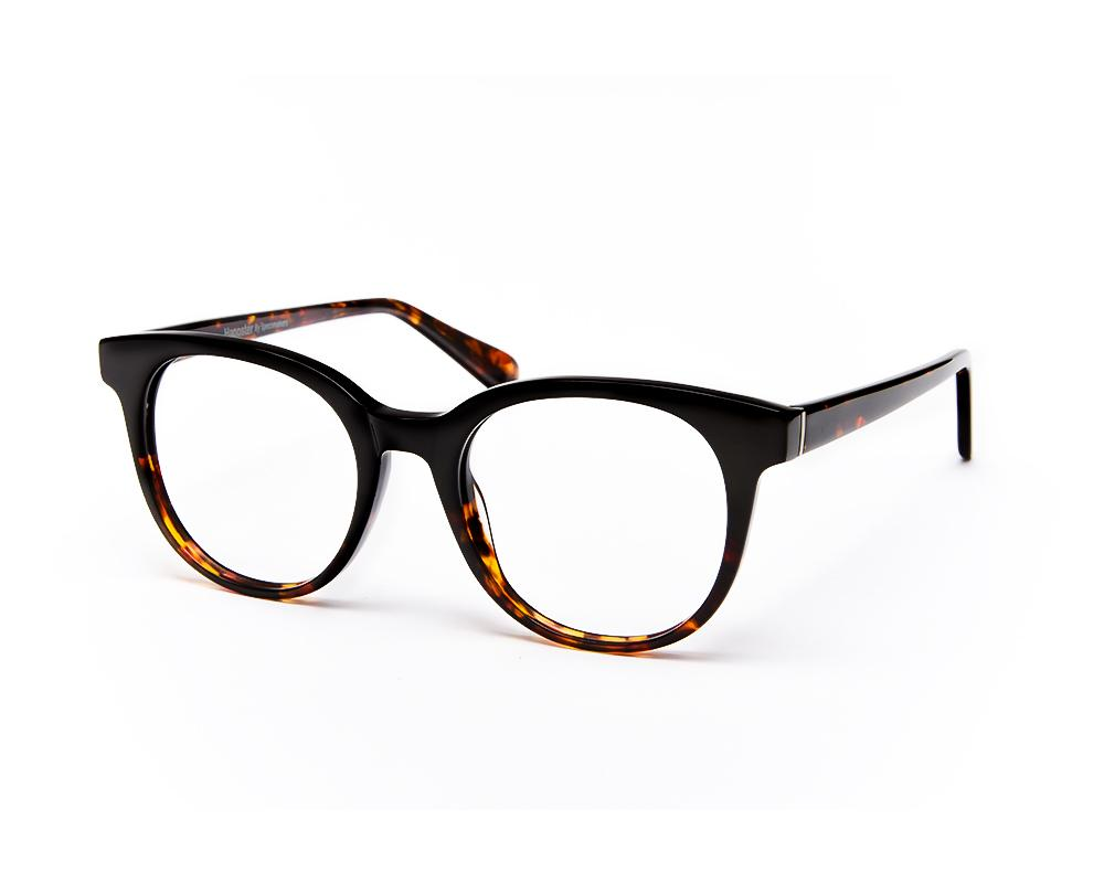 ROUND BROWN  DUO WITH TORTISE HAPPSTER NO17304 - Specsmakers