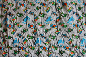 Construction Dinosaur Quilt