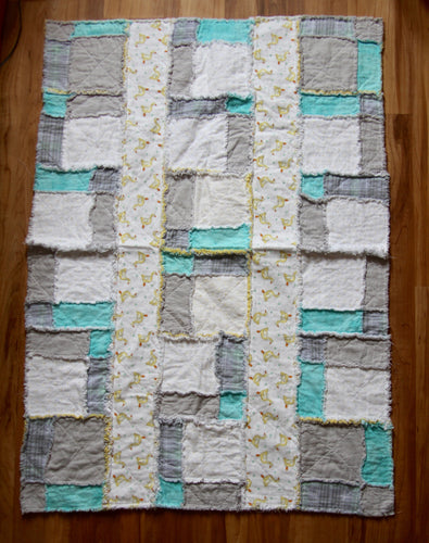Grey Duck Rag Quilt
