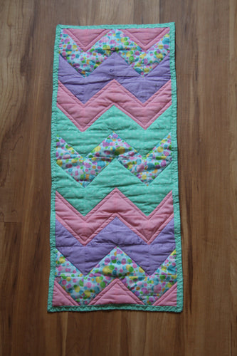 Spring Chevron table runner
