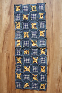 Plaid Sunflower Table Runner