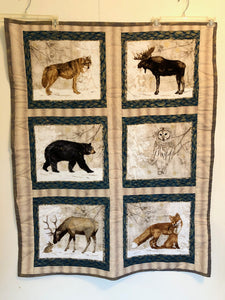 Winter Critters lap quilt