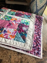Load image into Gallery viewer, Sweet Blooms lap quilt