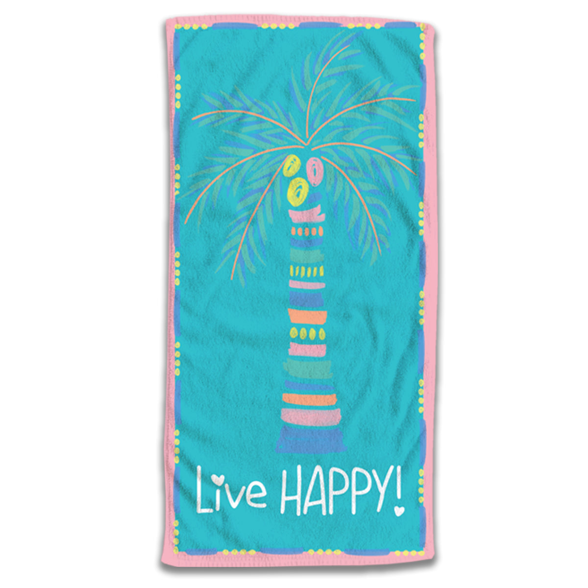 Live Happy Palm Tree