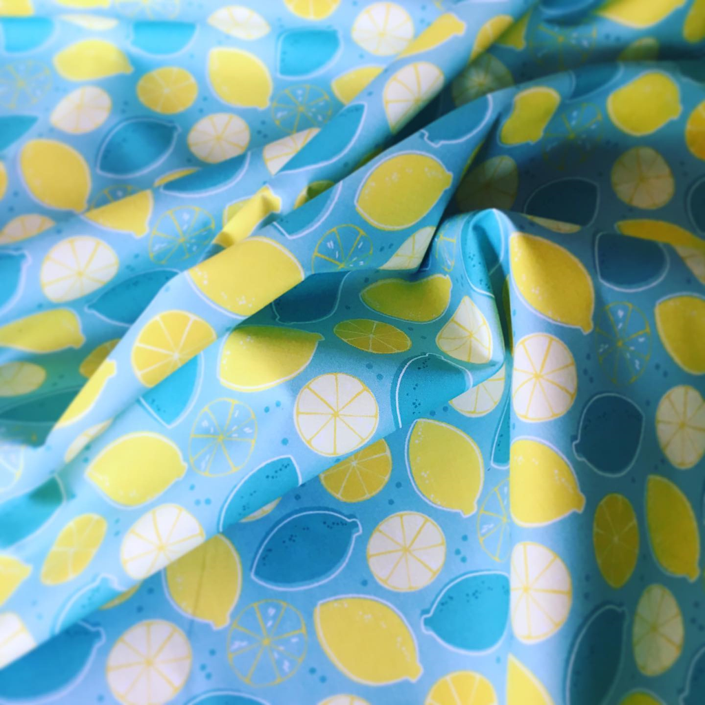 Starting this rainy Wednesday off with some bright happy fabric!