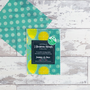 'Lovely Lemons' Beeswax Wraps - Pack of 2 Medium Wraps