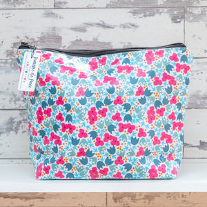 'Blossom Pattern' Oilcloth Wash Bag