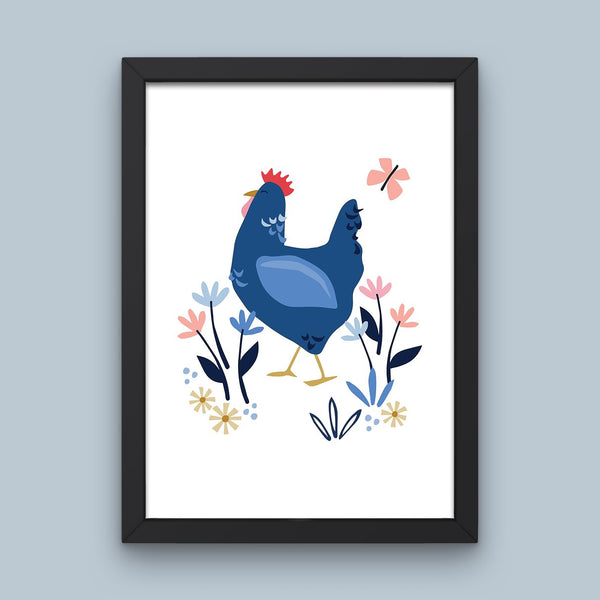 Sussex Blue Hen Art Print