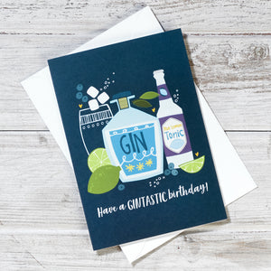 Gintastic Birthday Greeting Card
