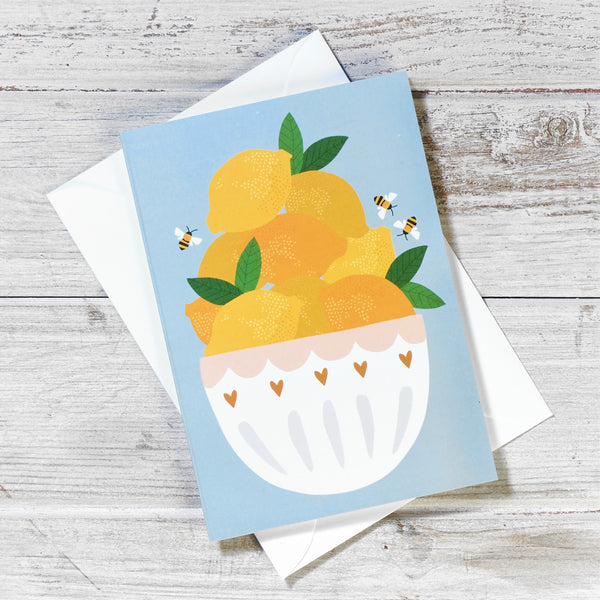 Lemon Bowl Greeting Card