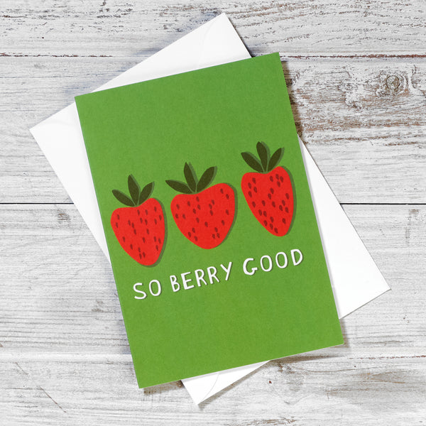 So Berry Good Greeting Card