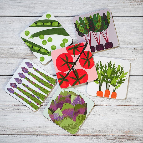 Vegetable Patch Coasters