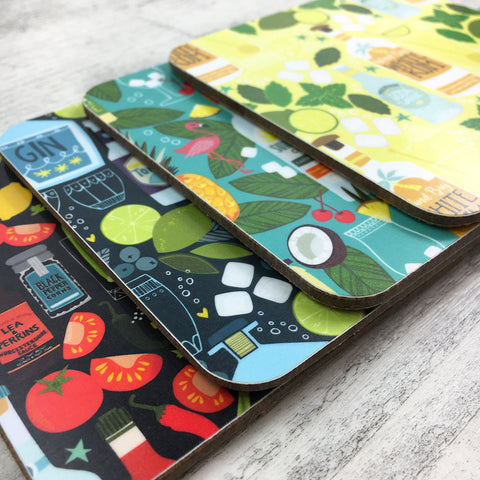'Cocktails' Coasters - Mix & Match