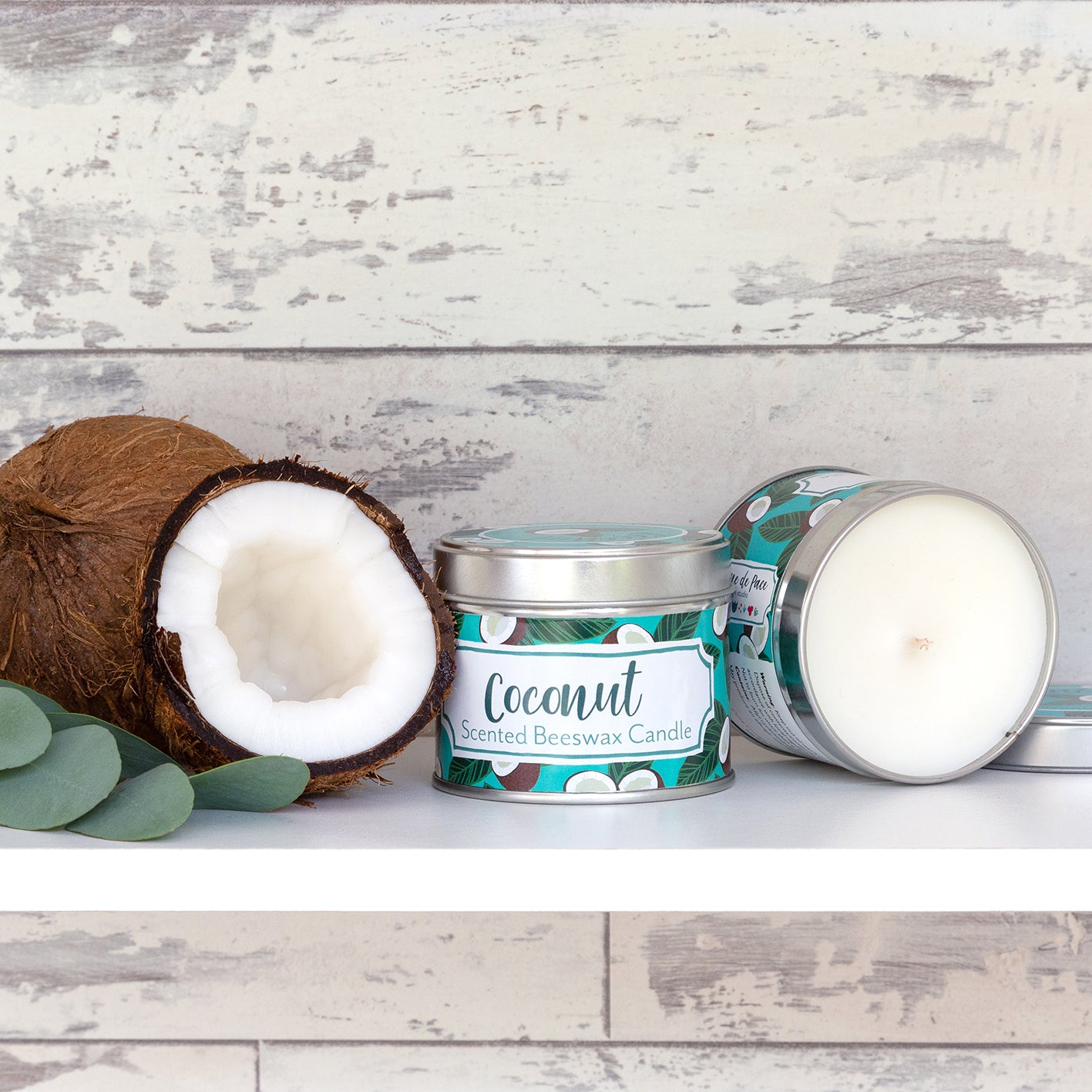 'Coconut' Scented Beeswax Candle