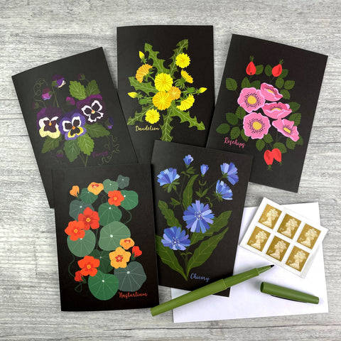 'Edible Flowers' Greeting Card Collection