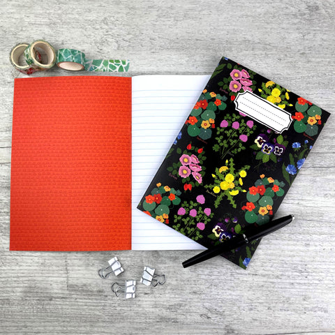 'Edible Flowers' A5 Lined Notebook