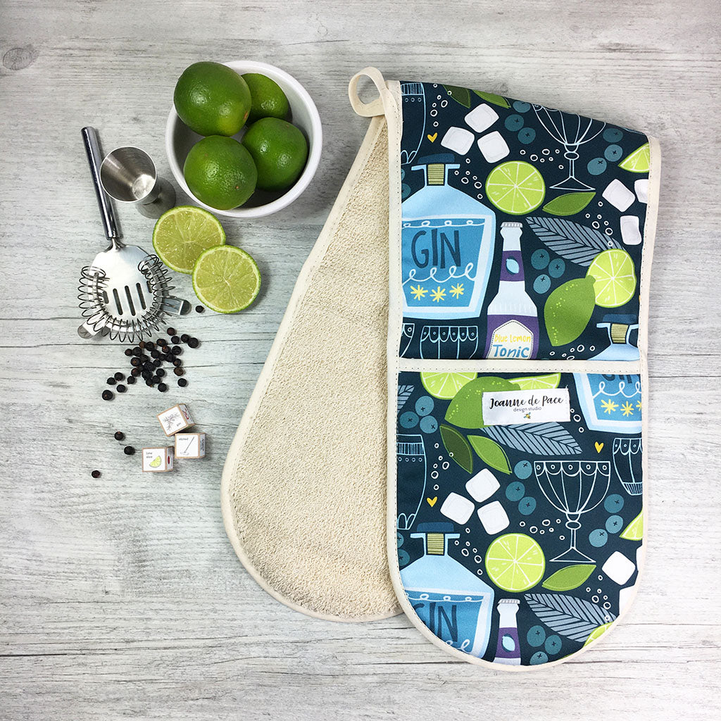 Gin & Tonic Oven Gloves