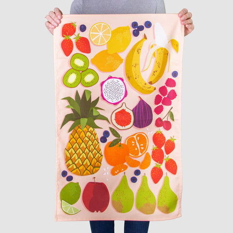 'Fruit Salad' Tea Towel