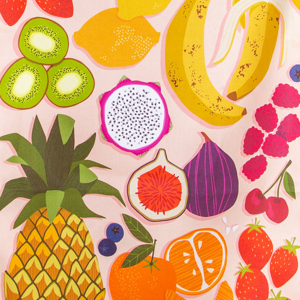 Fruit Salad Tea Towel - Close-Up
