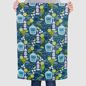 Gin & Tonic Pattern Tea Towel