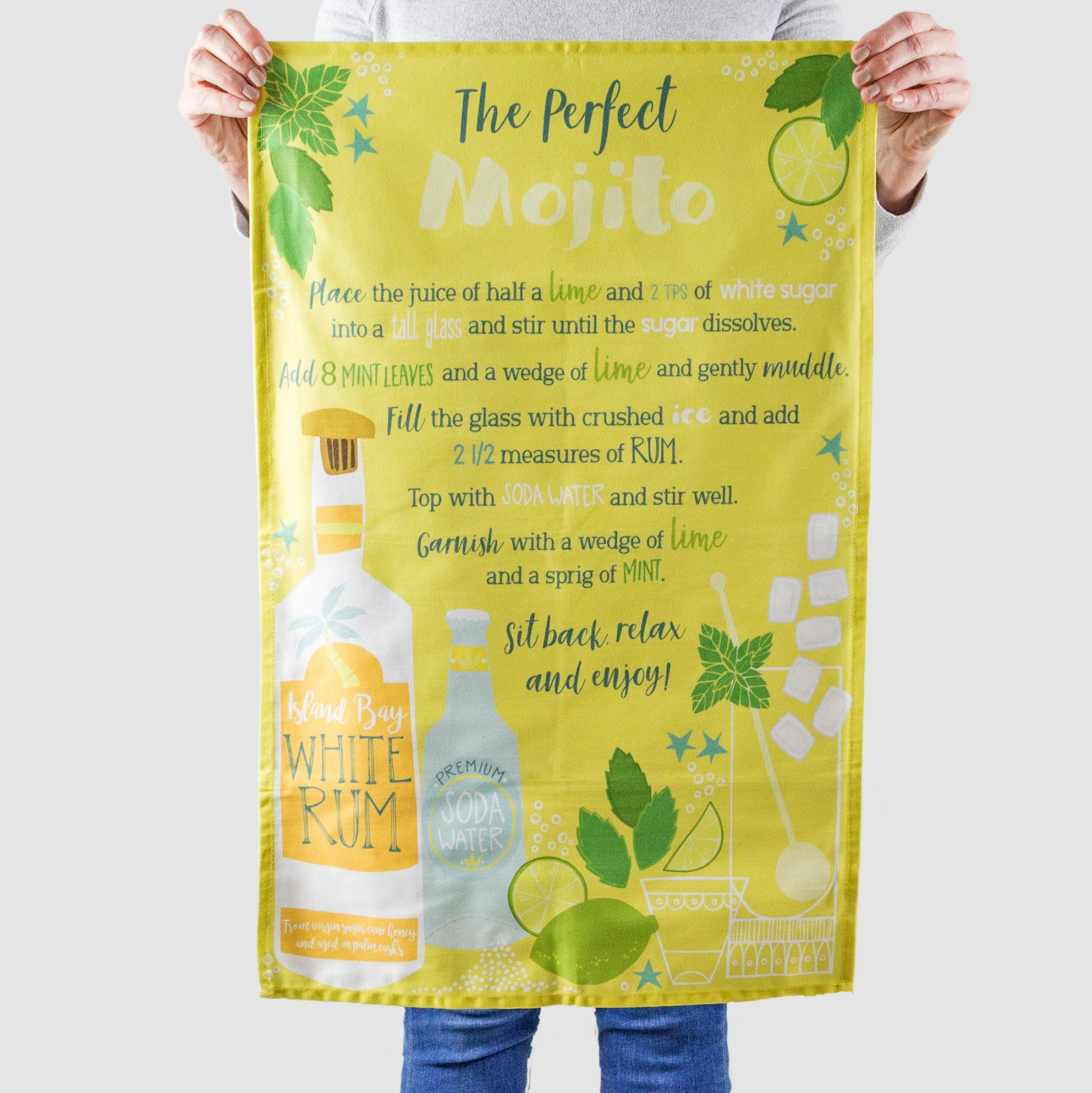 'The Perfect Mojito Recipe' Tea Towel