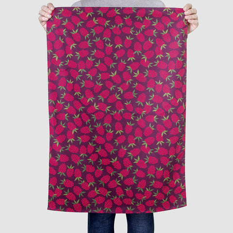 Raspberry Pattern Tea Towel