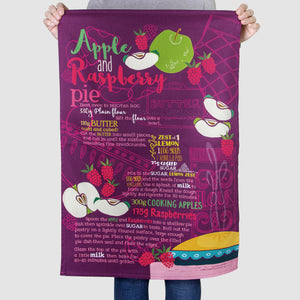 'Apple and Raspberry Pie' Tea Towel