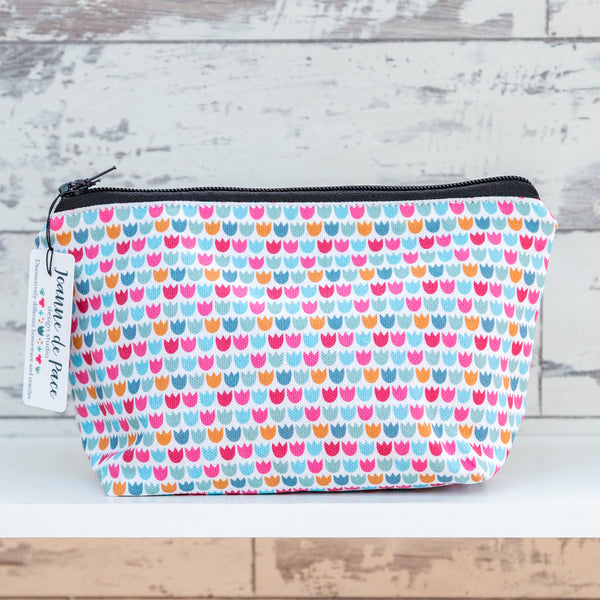 'Ditsy Tulip' Cosmetic Bag